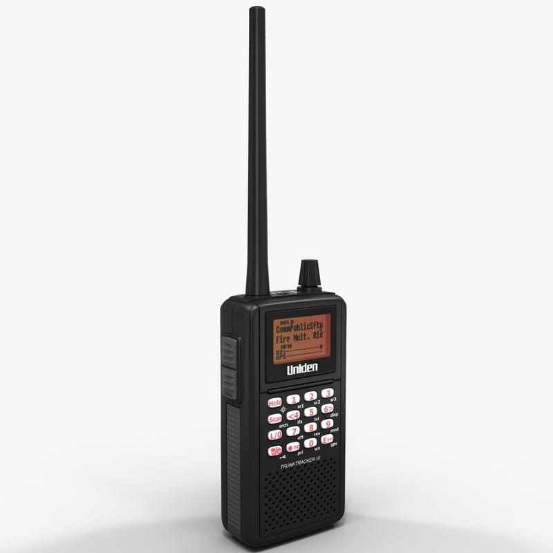 3d analog police scanner uniden model