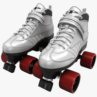 quad roller skates white 3ds