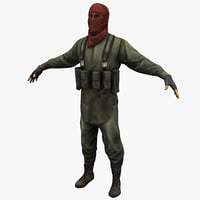 3d model guerrilla soldier