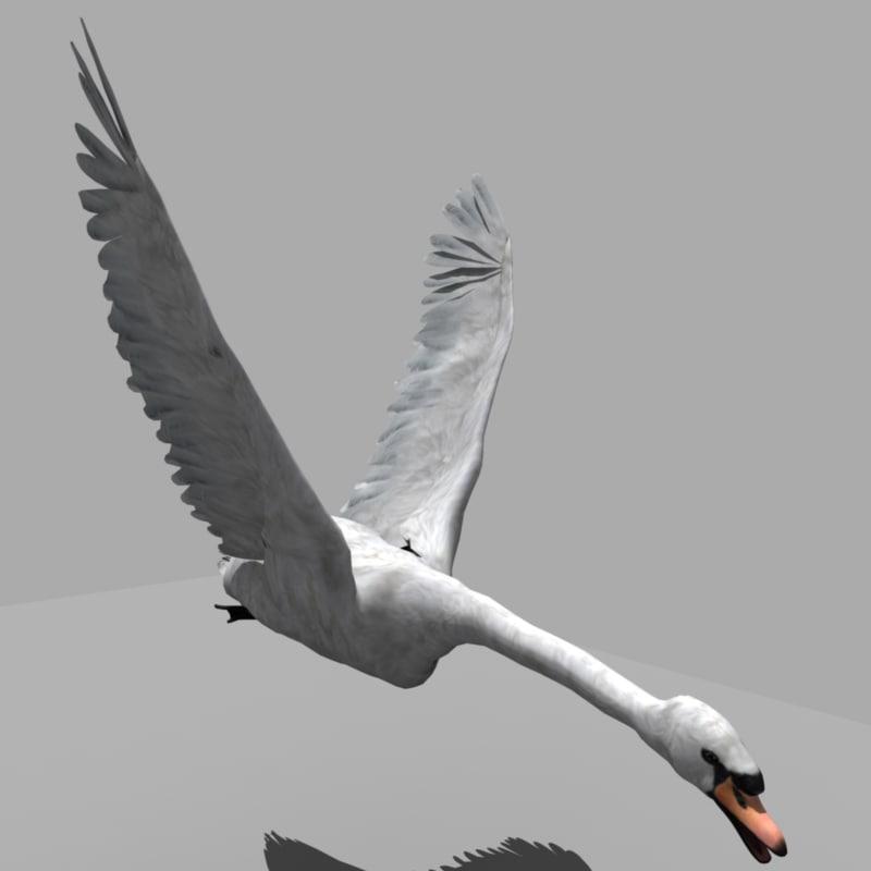 obj swan rigged