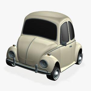 volkswagen beetle toon 3d model