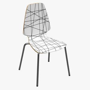 3d model modern chair