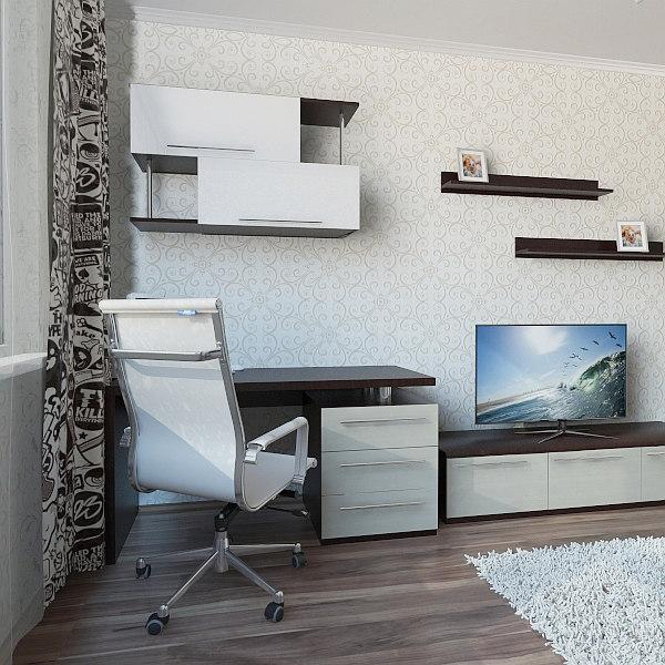 3d teen bedroom
