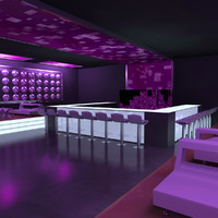 nightclub night club 3d max