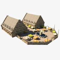 medieval market place obj
