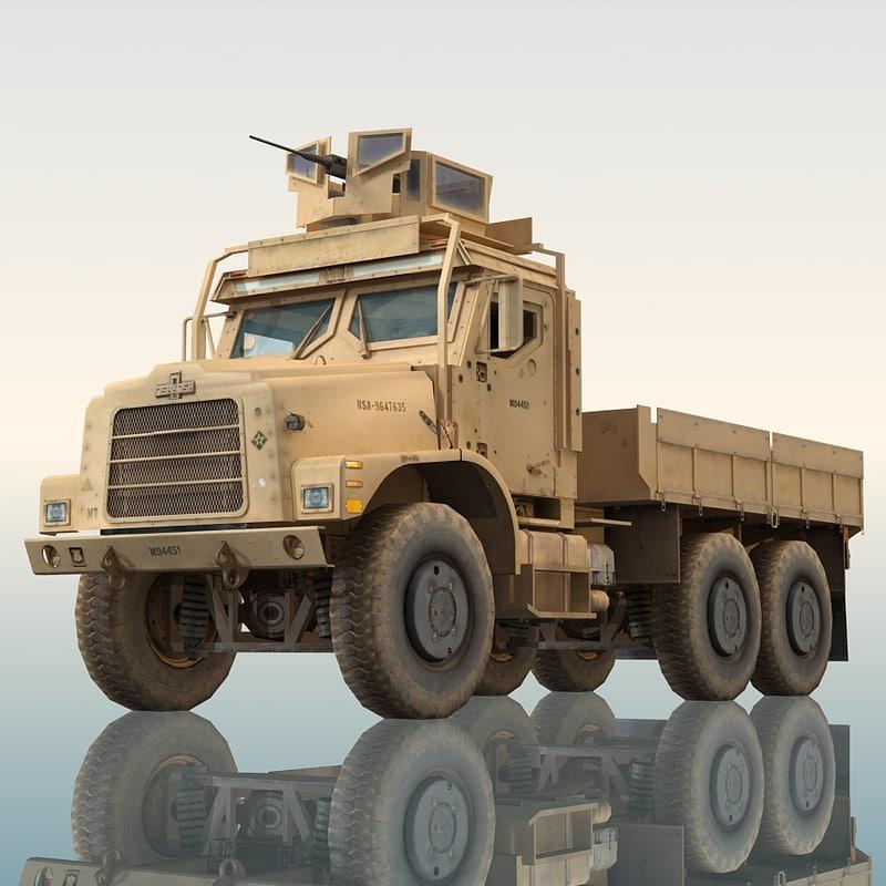 oshkosh mtvr military cargo truck 3d max