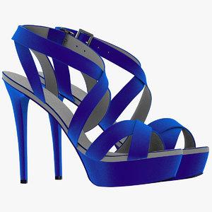3d girl velvet shoes
