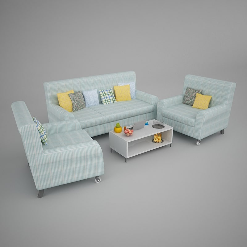 3ds max living room furniture 01