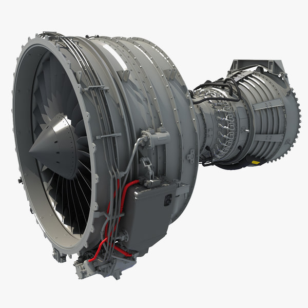 3ds cfm56 turbofan aircraft engine