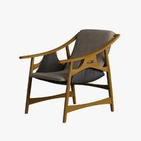 Armchair Wooden 003