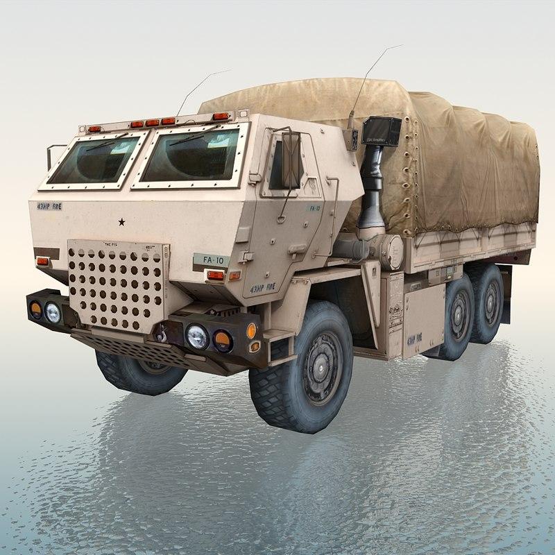 3d ilitary standard cargo truck