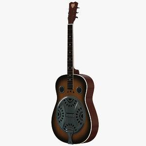 steel guitar 3d max