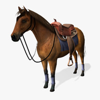 horse real-time 3d obj