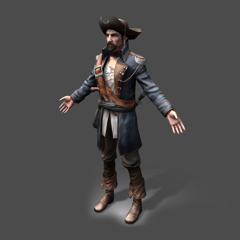 3d model pirate lord real-time