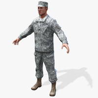 Real-Time US-Soldier 3D Model