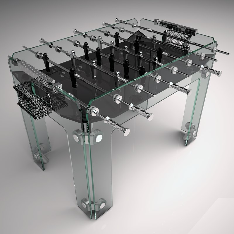 diamond cristallino foosball table 3d model