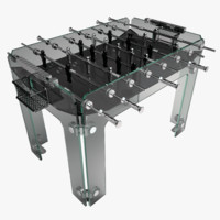 diamond cristallino foosball table 3d model