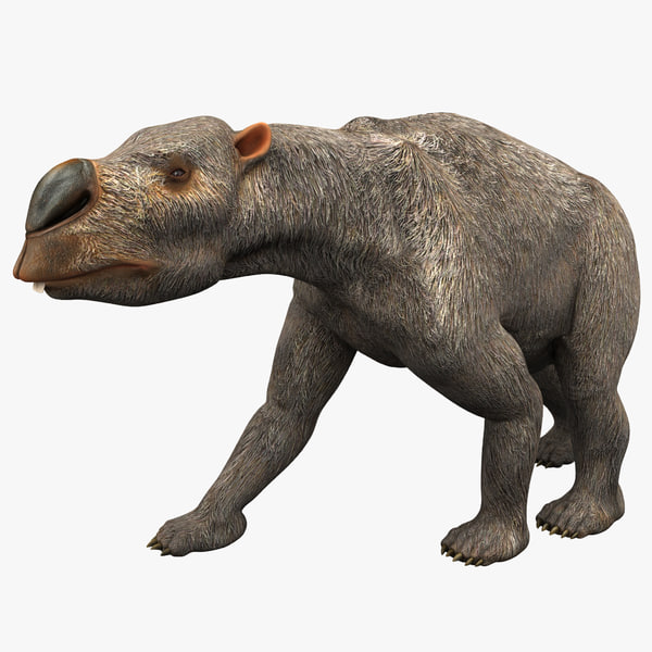 3ds max diprotodon rigged