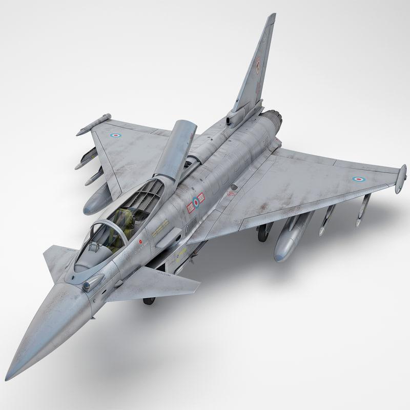 3d eurofighter typhoon ef2000 2