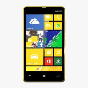 3d nokia lumia 820 model