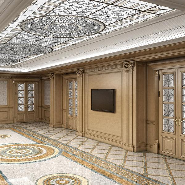 3dsmax classic interior room
