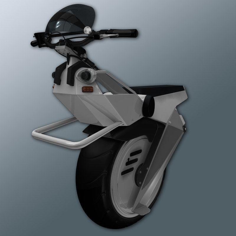 electric unicycle 3d model