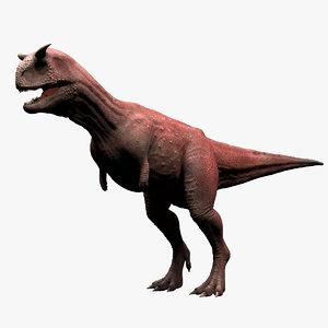 3d model carnotaurus sastrei dinosaur