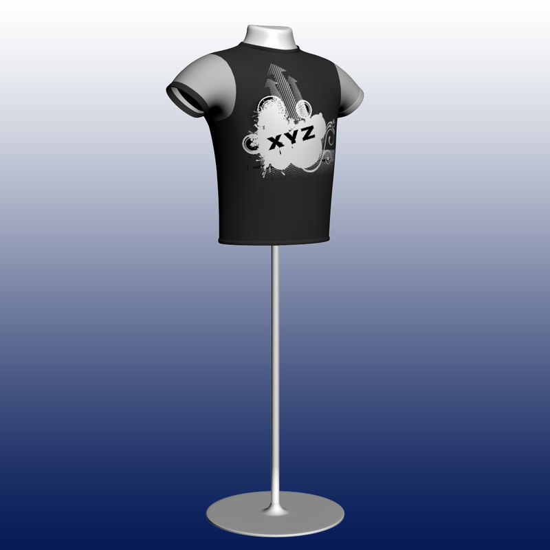 tshirt shirt mannequin 3d model