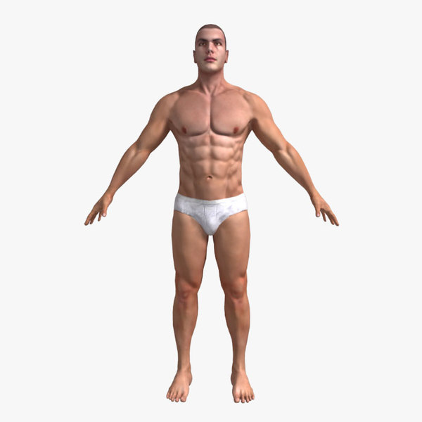 max male 01 rigged character