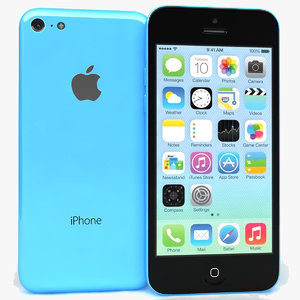 3dsmax apple iphone 5c blue