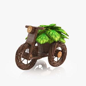 3d model flower bike