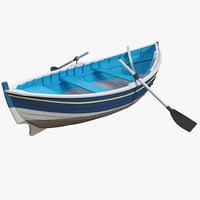 3d row boat 2 model
