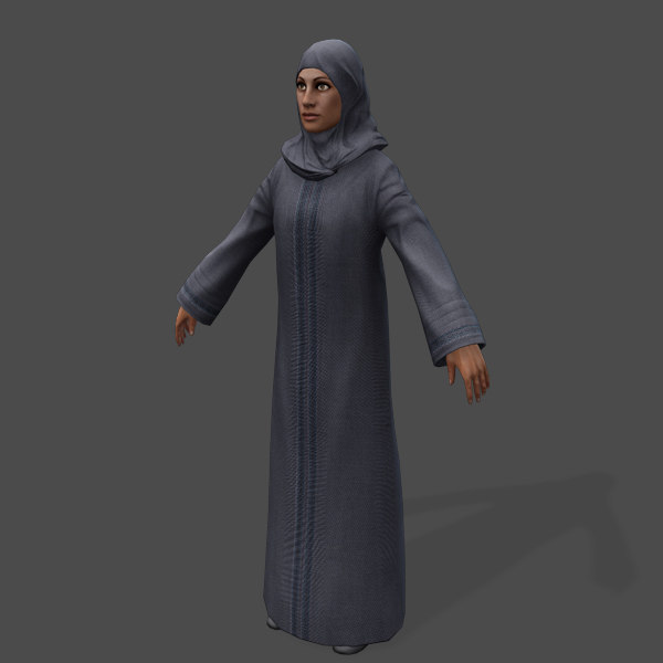 3d games arabic civilians female model