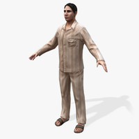 3d model of games arabic civilians male