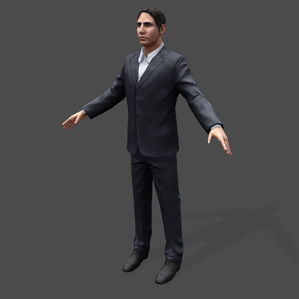 games arabic civilians male 3d model