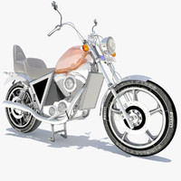 3d custom motorcycle model