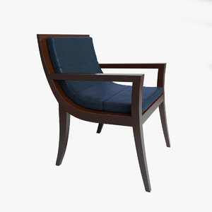 councill arrive guest chair 3d model