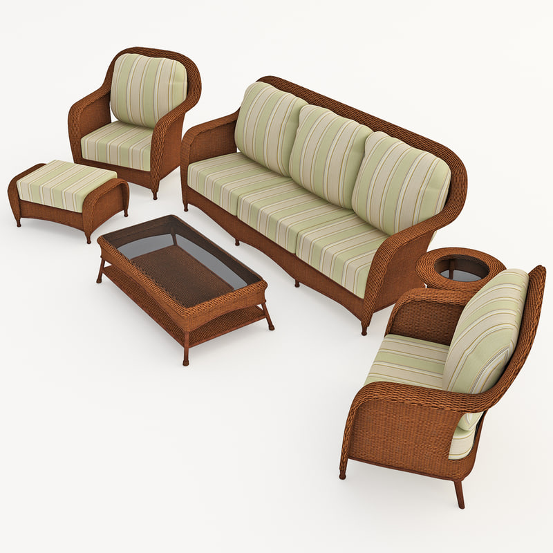 3ds max garden furniture set