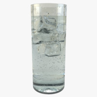 3d glass chilled water model