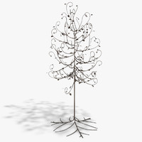 floor lamp tree 3d model