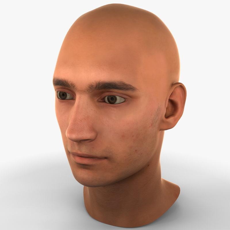 3d model male head 5