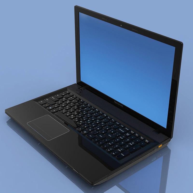 notebook lenovo g505s laptop computer 3d max