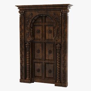 3ds max oriental door portal
