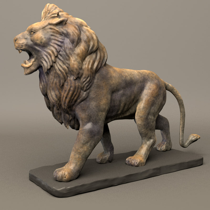 maya stone lion sculpture