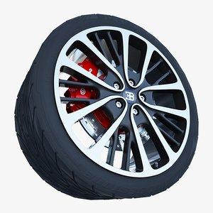 model bugatti veyron wheel
