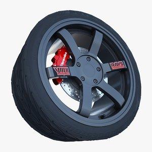3d model volk racing wheel