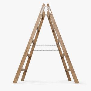 stepladder step ladder 3d model