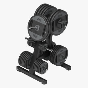 weight plates 3d max