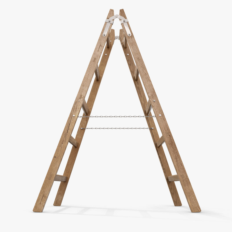 stepladder step ladder 3d model
