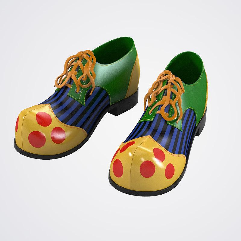 3dsmax clown shoes
